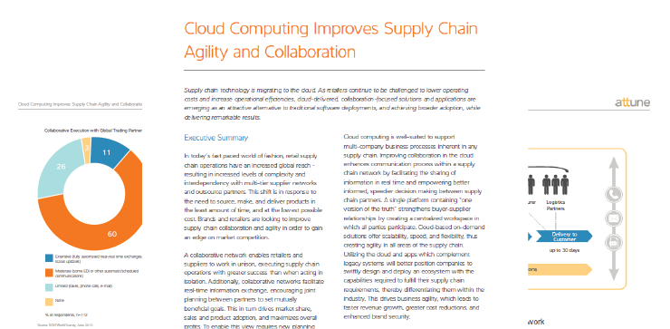 Cloud Computing Improves Supply Chain Agility and Collaboration
