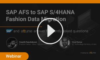 webinar:SAP AFS to SAP S/4HANA Migration