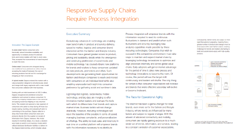 Responsive Supply Chains Require Process Integration