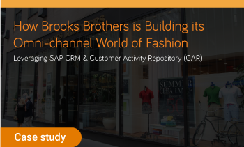 Case study: how brooks brothers is leveraging SPA CRM and CAR